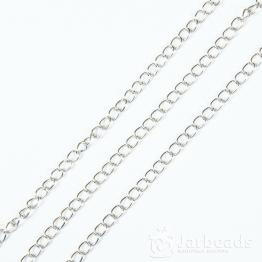 Цепочка длиной 50см звено 5,5*3,5мм (серебро)