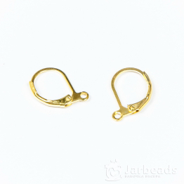 Швензы закрывающиеся Округлые 16*10мм (золото)