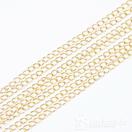 Цепочка длиной 50см звено 5,5*3,5мм (золото)