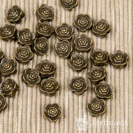 Разделитель для бусин Цветок 7*7мм (бронза)
