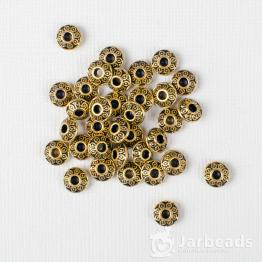 Разделители для бусин Диски с кругами 1,8*4мм (золото) 10шт.