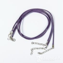 Шнур из синтетических нитей 46+5см d.2мм (фиолетовый матовый)