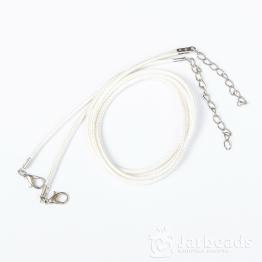 Шнур из синтетических нитей 46+5см d.2мм (белый)