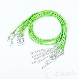 Шнур из синтетических нитей 46+5см d.2мм (салатовый)