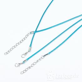 Шнур из синтетических нитей 46+5см d.2мм (бирюзовый)