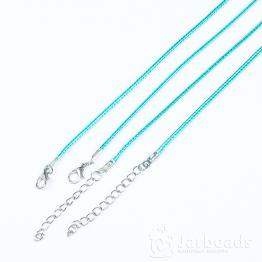 Шнур из синтетических нитей 46+5см d.2мм (голубой)