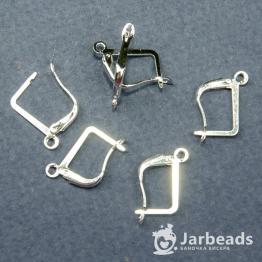 Швензы закрывающиеся Прямоугольные 15*10мм (серебро хром)
