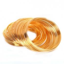 Проволока мемори 1мм кольцо d50мм (золото)