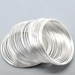 Проволока мемори 1мм кольцо d50мм (серебро хром)
