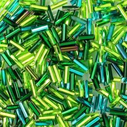 Микс стекляруса PRECIOSA (50гр) цвет зеленый ассорти