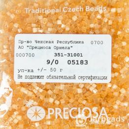 Рубка PRECIOSA 9/0 50грамм цвет: оранжевый сатин 05183