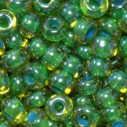 Бисер PRECIOSA 10/0 (50гр) 1сорт цвет: зеленый с голубой серединкой арт.81014