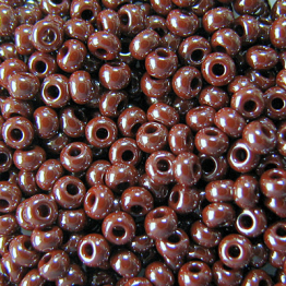 Бисер PRECIOSA 10/0 (15гр) 2сорт цвет: коричневый блестящий арт.18600