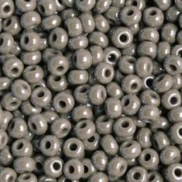 Бисер PRECIOSA 10/0 (15гр) 2сорт цвет: серый блестящий арт.48020