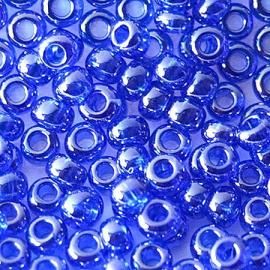 Бисер PRECIOSA 10/0 (50гр) 1сорт цвет: синий прозрачный блестящий арт.36050
