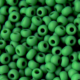 Бисер PRECIOSA 10/0 (15гр) 2сорт зеленый керамика матовый арт.53250m