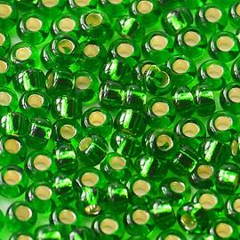 Бисер PRECIOSA 10/0 (15гр) 2сорт цвет: зеленый огонек арт.57120