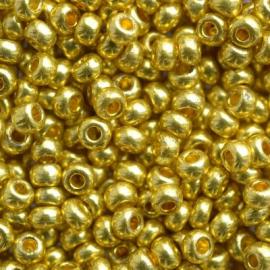 Бисер PRECIOSA 10/0 (15гр) 2сорт цвет: металлик желтое золото арт.18586