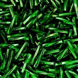 Стеклярус PRECIOSA (50гр) цвет зеленый огонек арт.57060twisted