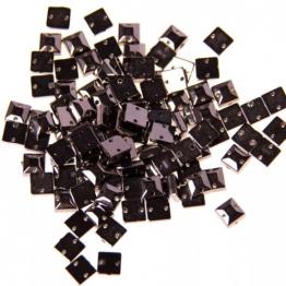 Стразы пришивные квадратные 8*8мм (черный) 10шт