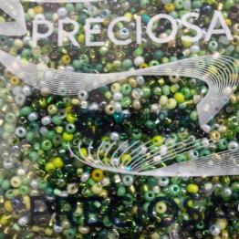 Бисер PRECIOSA 10/0 (50гр) 2сорт ассорти цвет: зеленый микс арт.02