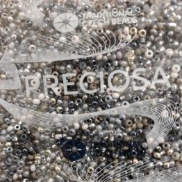 Бисер PRECIOSA 10/0 (50гр) 2сорт ассорти цвет: серебряный-серый микс арт.05