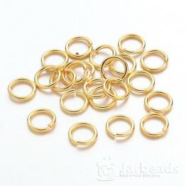 Кольца разжимные 7*1мм (золото) 50шт X-JRC7MM-G