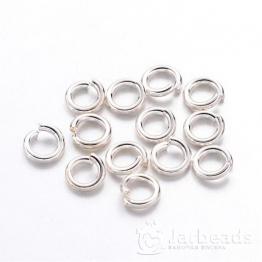 Кольца разжимные 4*0,8мм (серебро хром) 50шт X-JRC4MM-NFS