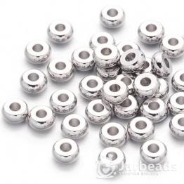 Разделители для бусин Диск гладкий 1,9*4мм (серебро хром) 10шт X-EC819-NF