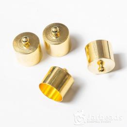 Колпачки литые с петлей вн.d.10мм (золото) 2шт