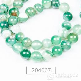 Бусина Агат 8мм (зеленый)
