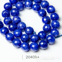 Бусина Агат граненая 10мм (синий)