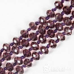 Бусины-кристаллы рондель 6*8мм гранат прозрачный 10штук арт.3324