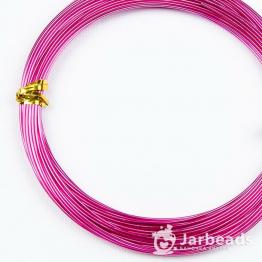 Проволока d1мм, длина намотки 10м (розовый фуксия)