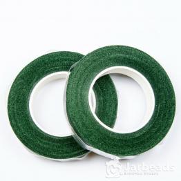 Тейп-лента для флористики 12мм 27м зеленый темный