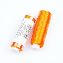 Нитки Вискоза 100% для вышивки и кистей 183м (апельсиновый) №3147