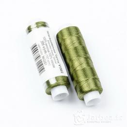 Нитки Вискоза 100% для вышивки и кистей 183м (темно оливковый) №3261