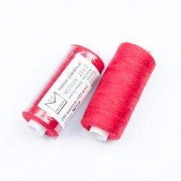 Нитки Джинсовые Полиэстер 20s/2 MICRON намотка 183м (красный темный) №114