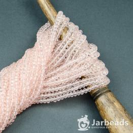 Кристаллы рондель 2*3мм розовый кварц прозрачный 195штук арт.32