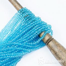 Кристаллы рондель 3*4мм голубой прозрачный 140штук арт.8
