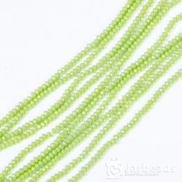 Кристаллы рондель 2*3мм зеленый оливковый керамика 195штук арт.41