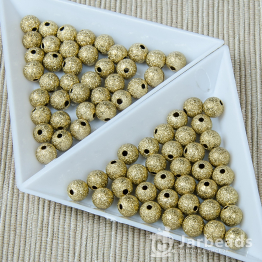 Бусины Звёздная пыль 6мм (золото) 25штук
