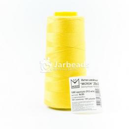 Нитки БОБИНА Полиэстер 20s/2 Micron джинсовые 912м (желтый яркий) №385