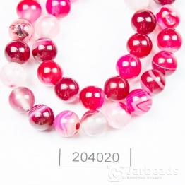 Бусина Агат 8мм (розовый)