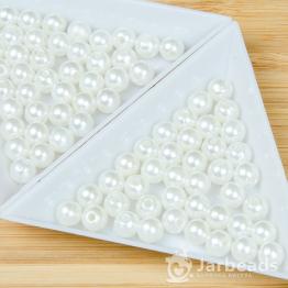 Бусины пластиковые 8мм (белый) 100штук