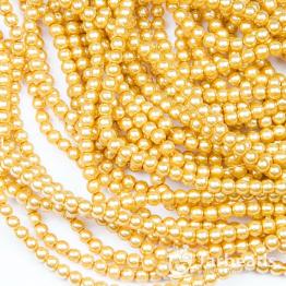 Бусины пластиковые Жемчуг 4мм 210шт (золотой) арт.58