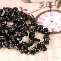 Каменная крошка Черный агат отрезок 84см