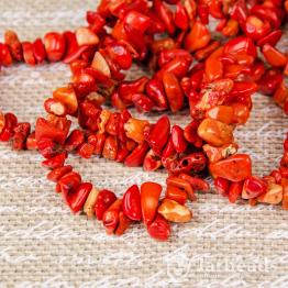 Каменная крошка Коралл оранжевый отрезок 42см