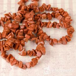 Каменная крошка Авантюрин коричневый отрезок 84см