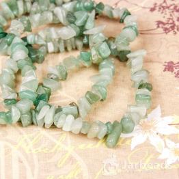 Каменная крошка Нефрит зеленый отрезок 42см